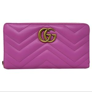 Gucci Bags - Gucci Purple GG Marmont Wallet Card Case Clutch